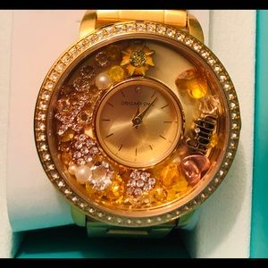 Gold  Living Locket Watch